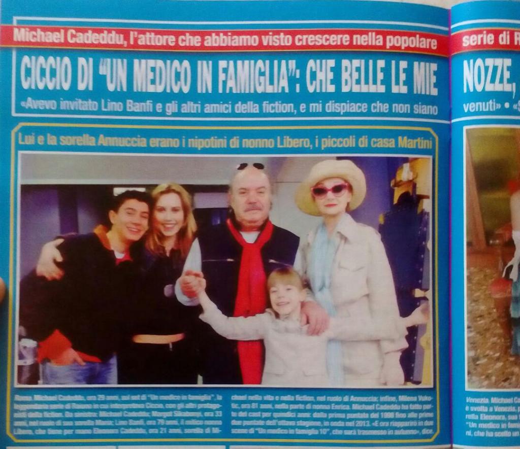 Matrimonio Michael Cadeddu con la sua FAMIGLIA DI NONNO LIBERO Lino Banfi DI UN MEDICO IN FAMIGLIA
